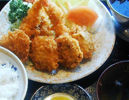 ミックスフライ定食 ¥1200