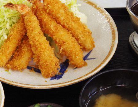 エビフライ定食 ¥1300