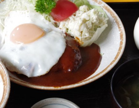 黒豚ハンバーグ定食 ¥1200
