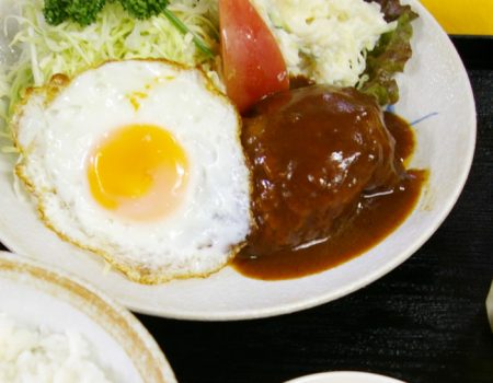和牛ハンバーグ定食 ¥1200